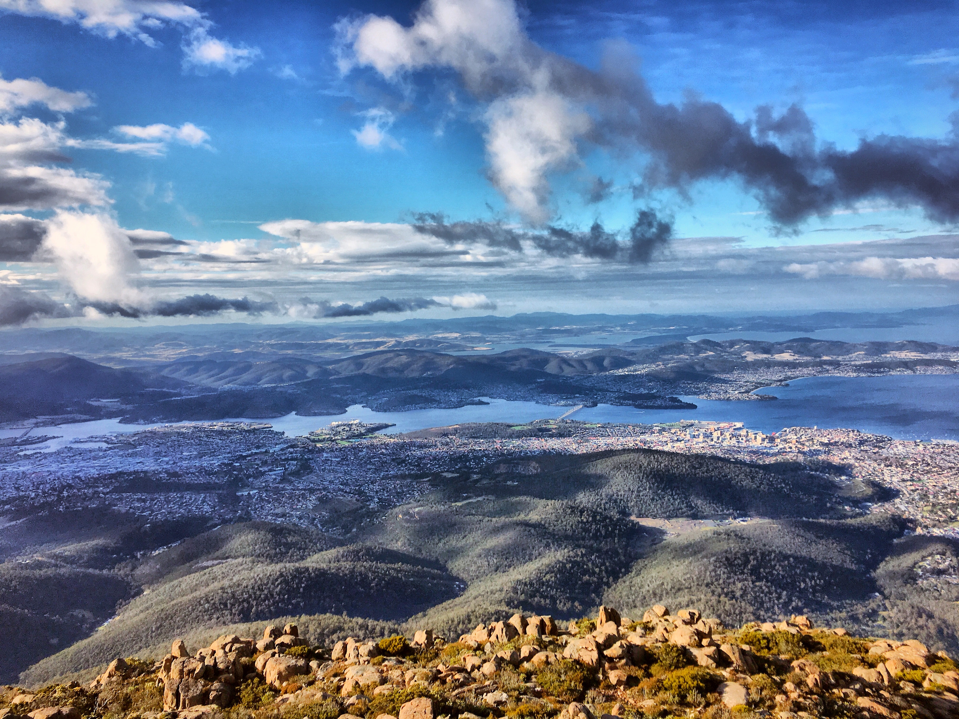 View from Mt Wellington, Tasmania