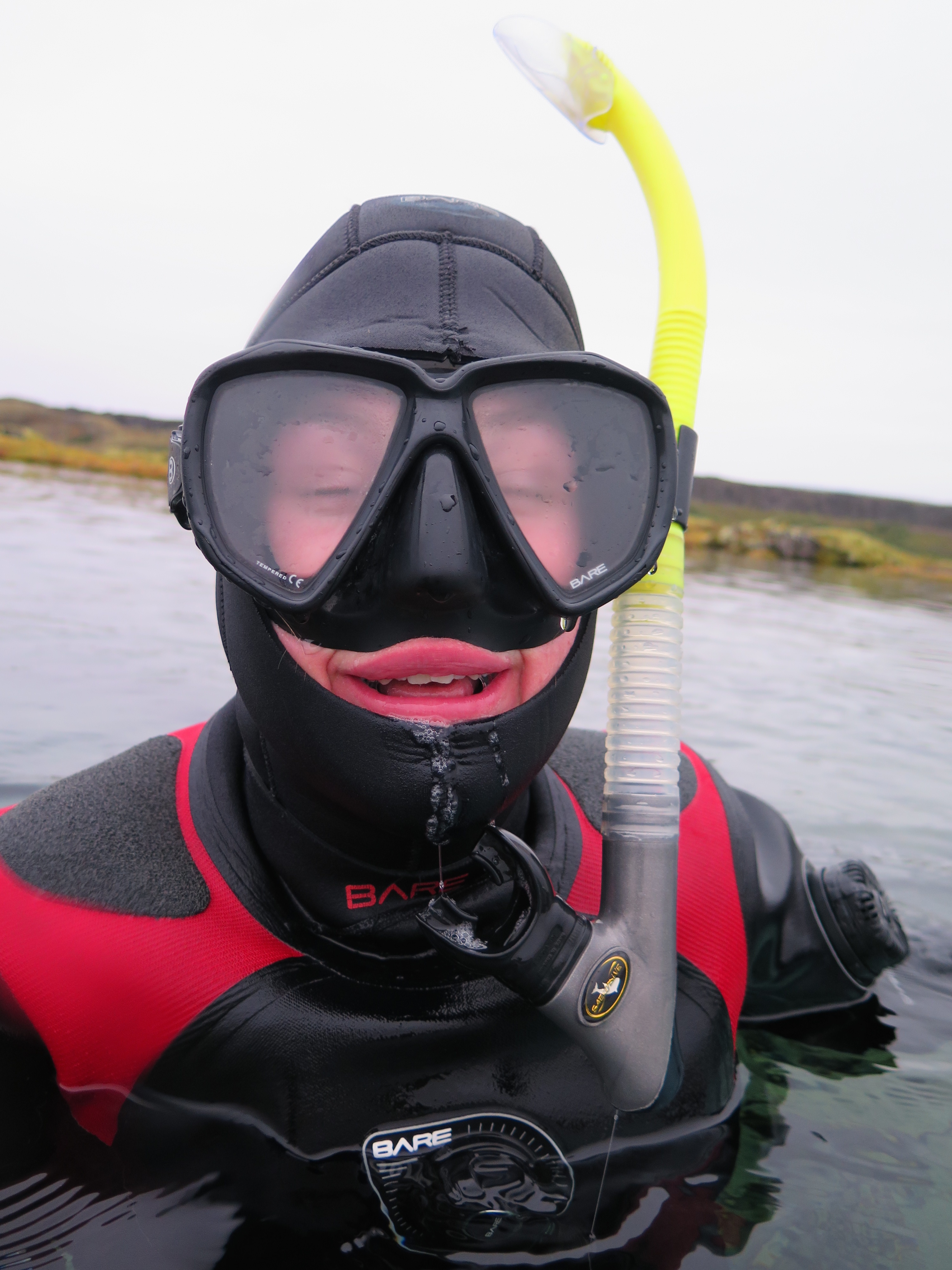 Phoe Travels to Iceland to Snorkel in a dry suit