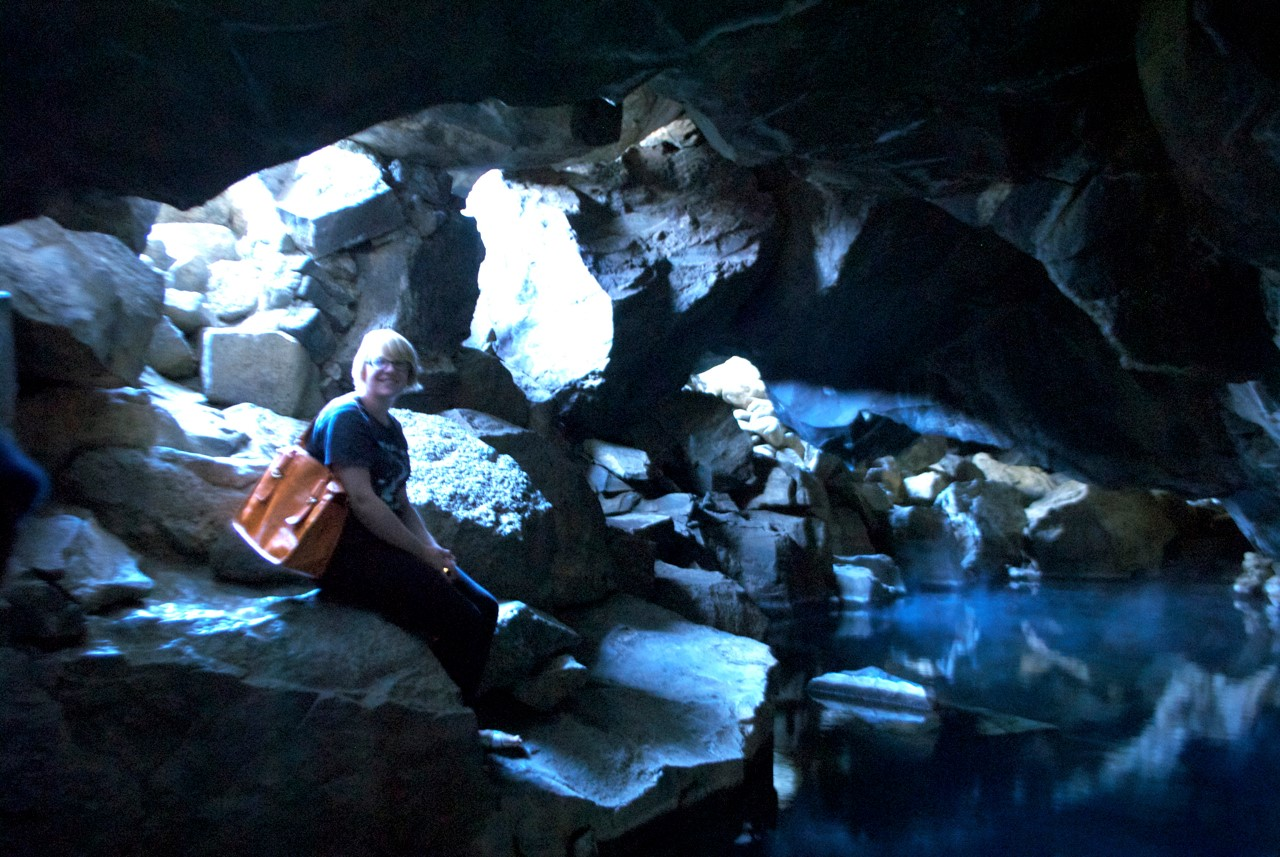 Phoe Travels to the Jon Snow Cave in Myvatn Iceland