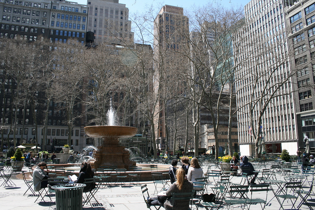 Phoe Travels to Bryant Park in New York City